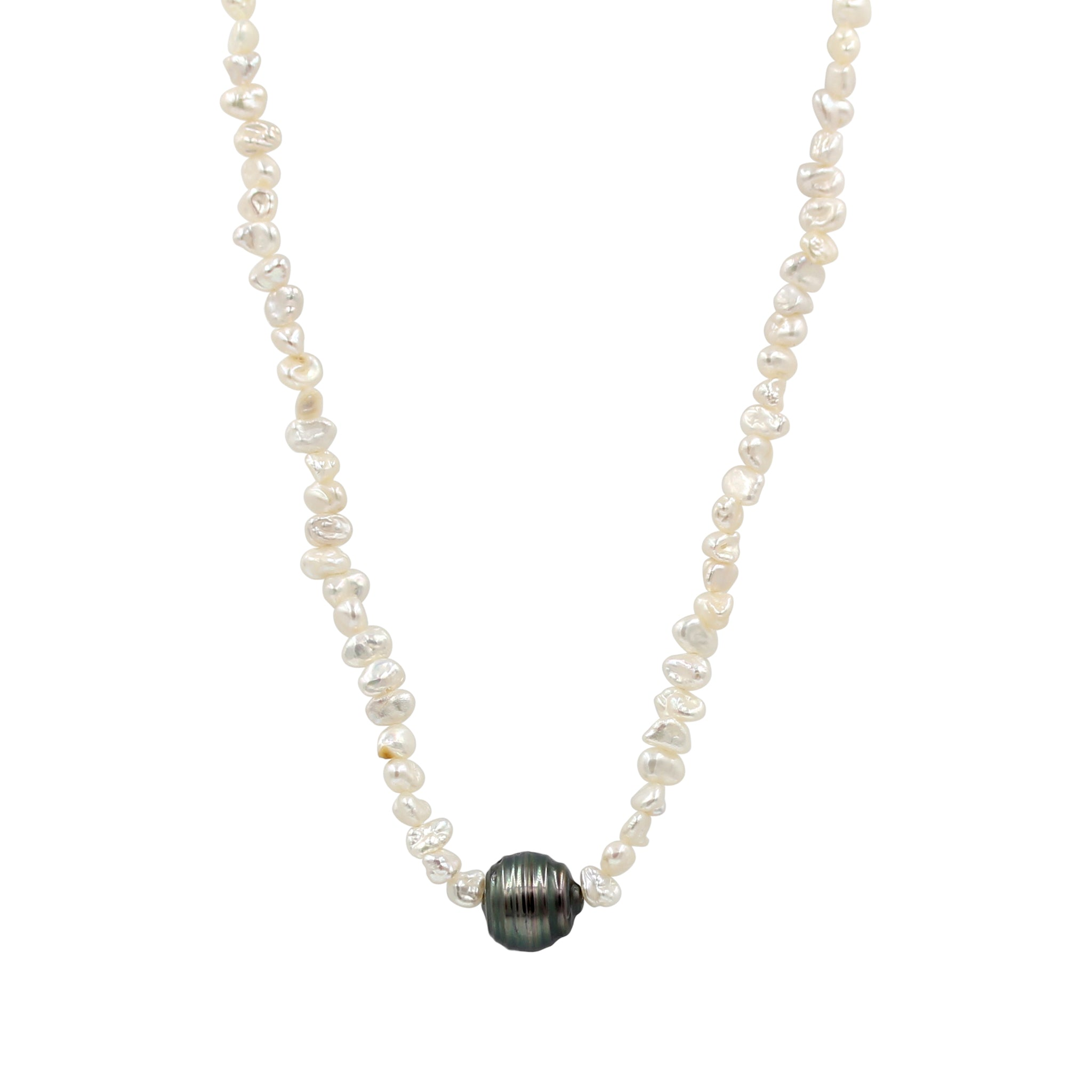 I am Loved Tahitian Pearl Necklace - Sati Gems Hawaii Healing Crystal Gemstone Jewelry