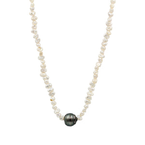 I am Loved Tahitian Pearl Necklace - Sati Gems Hawaii