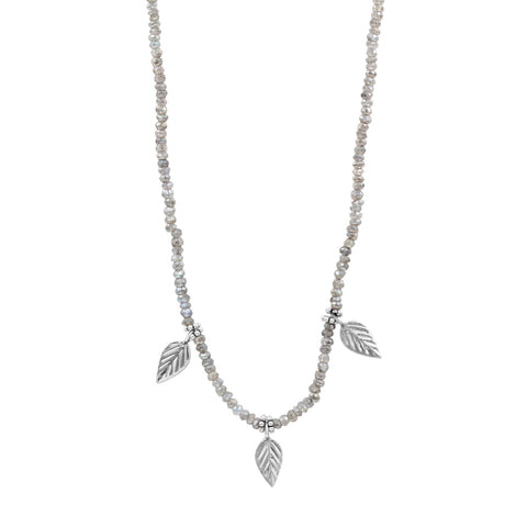 Labradorite Silver Necklace - Sati Gems Hawaii
