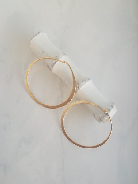 Lila Gold Hoop Earrings - Sati Gems Hawaii Healing Crystal Gemstone Jewelry