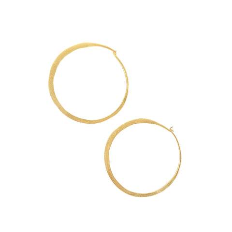 Lila Gold Hoop Earrings - Sati Gems Hawaii