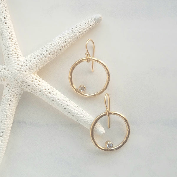 Hokulani Hoop Earrings - Sati Gems Hawaii Healing Crystal Gemstone Jewelry