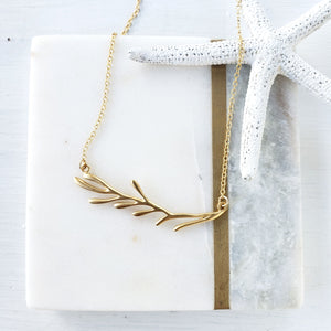 Gold Vermeil- Sterling Silver Coral Branch Necklace - Sati Gems Hawaii Healing Crystal Gemstone Jewelry