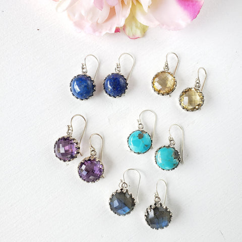 Gem Drop Earrings - Sati Gems Hawaii Healing Crystal Gemstone Jewelry
