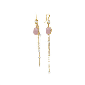 Dreamy Love Pink Morganite Earrings - Sati Gems Hawaii Healing Crystal Gemstone Jewelry