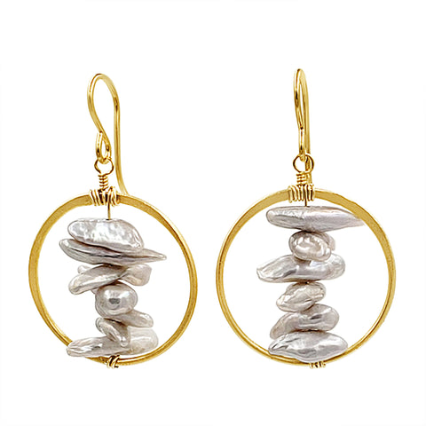 Pearl Earrings - Sati Gems Hawaii Healing Crystal Gemstone Jewelry