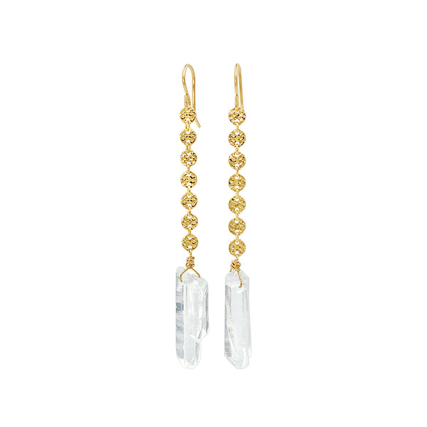 Clarity Clear Quartz Earrings - Sati Gems Hawaii Healing Crystal Gemstone Jewelry