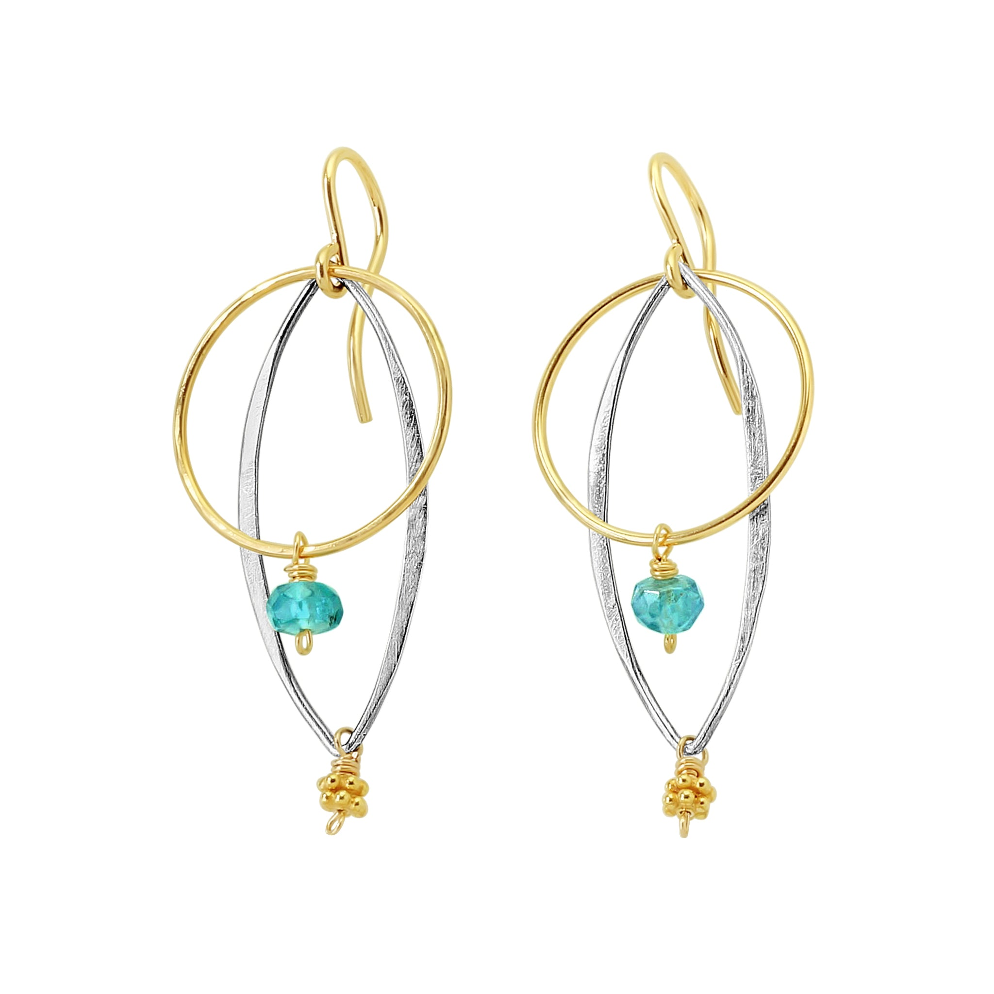 Sea & Sky Earrings - Sati Gems Hawaii