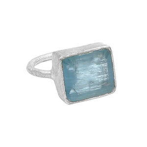 Sterling Silver Aquamarine Ring - Sati Gems Hawaii