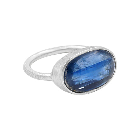 Youthful Kyanite Silver Ring - Sati Gems Hawaii Healing Crystal Gemstone Jewelry