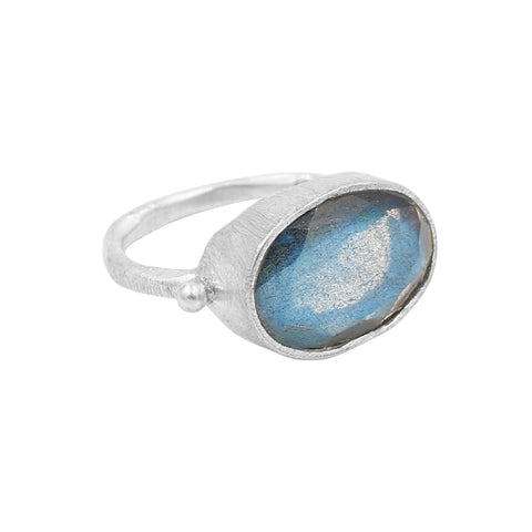 Singing Heart Labradorite Ring - Sati Gems Hawaii
