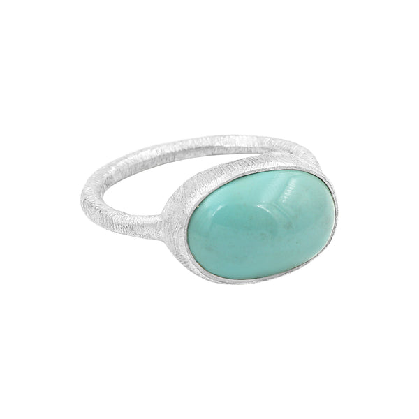 Turquoise Sterling Silver Ring - Sati Gems Hawaii Healing Crystal Gemstone Jewelry