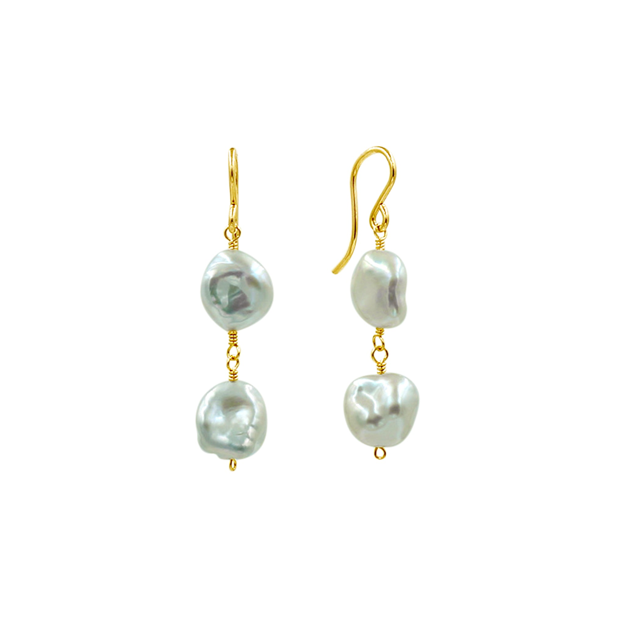 Baroque Gorgeous Pearl Earrings - Sati Gems Hawaii Healing Crystal Gemstone Jewelry