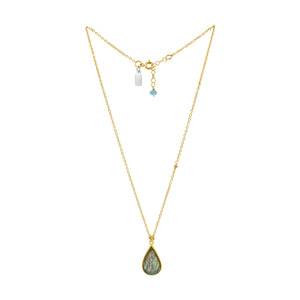 Labradorite Magic Gold Necklace - Sati Gems Hawaii