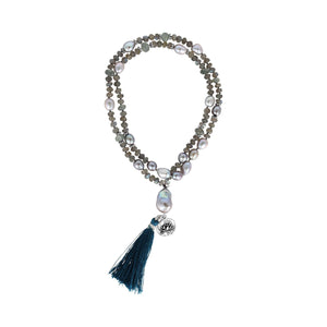 Love & Strength Mala Necklace - Sati Gems Hawaii Healing Crystal Gemstone Jewelry