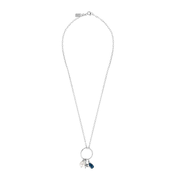 Perfect Balance London Blue Topaz Silver Starfish  Necklace - Sati Gems Hawaii