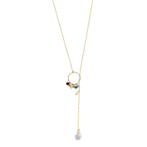 Crystal Clear Chakra Gemstone Necklace - Sati Gems Hawaii Healing Crystal Gemstone Jewelry