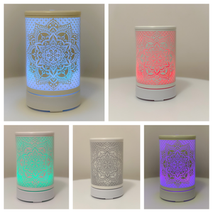 White Mandala Ultrasonic Diffuser