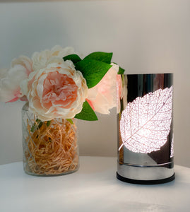 Silver Leaf Touch Lamp