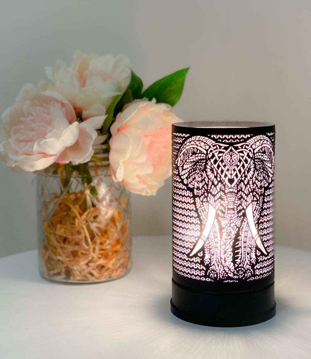 Black Elephant Touch Lamp