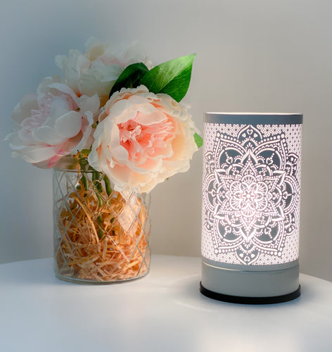 White Mandala Touch Lamp