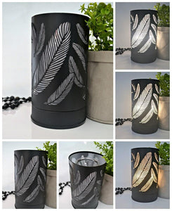 Black Feather Touch Lamp