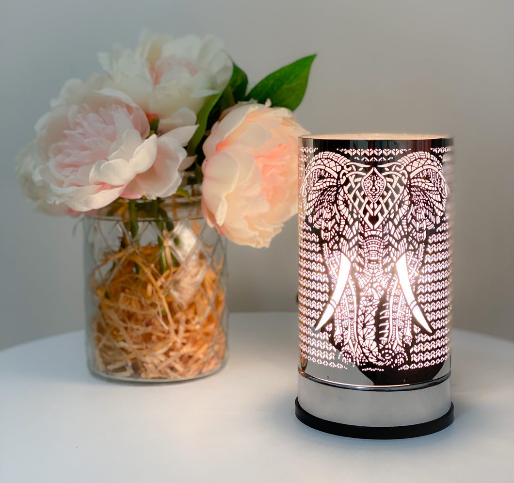 Silver Elephant Touch Lamp
