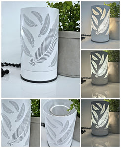 White Feather Touch Lamp