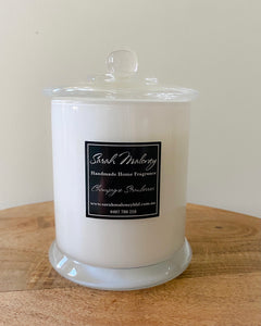 Large White Danube Candle