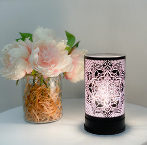Black Mandala Touch Lamp