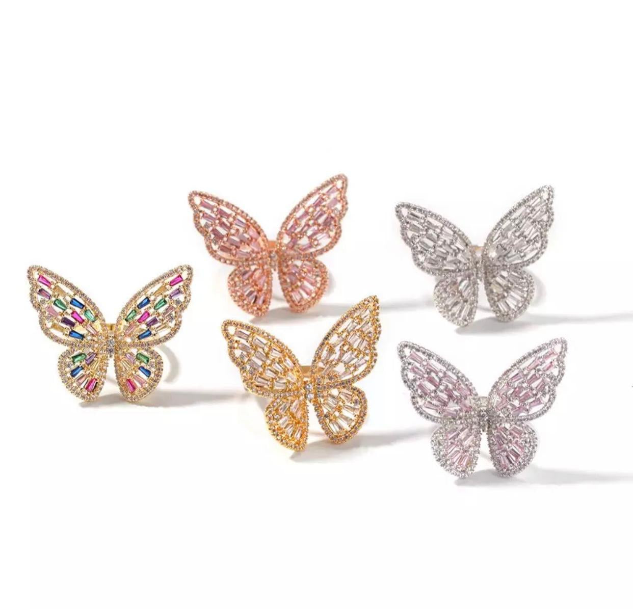 Butterfly Ring -Rose