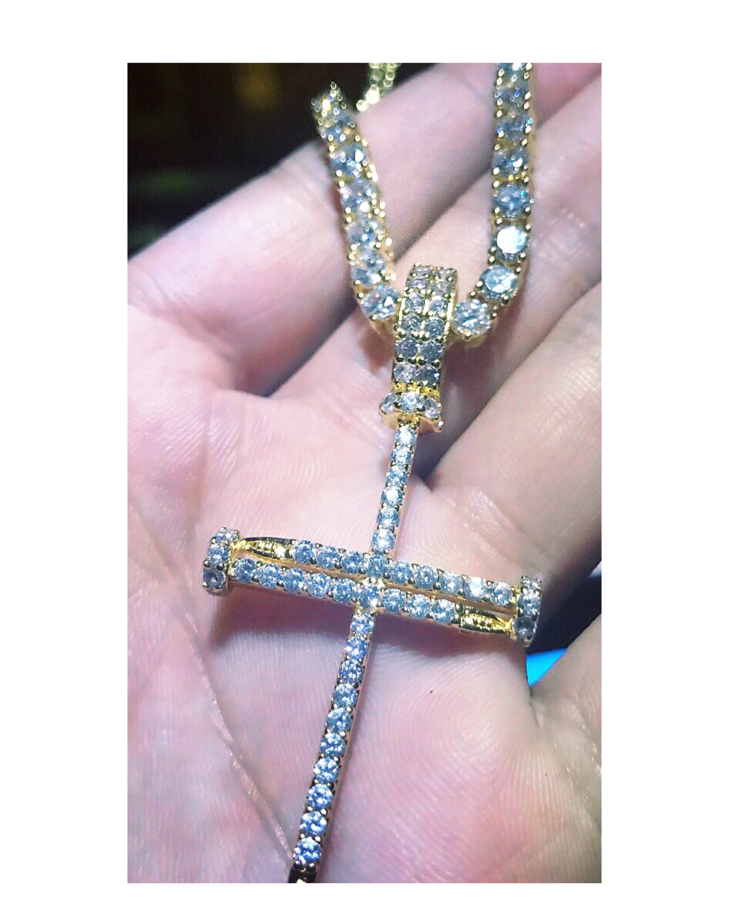 Nail cross + Tennis Chain