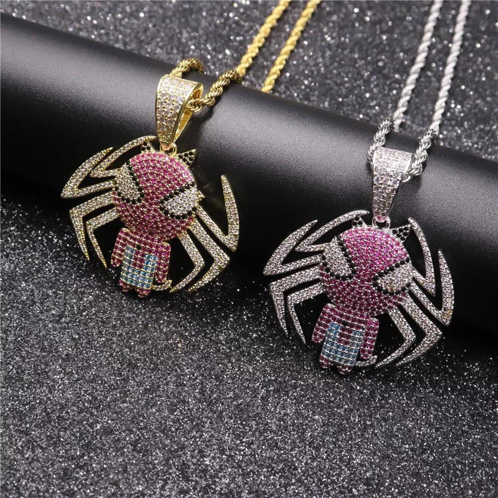 Spiderman Pendant & Necklace combo