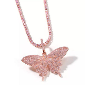Butterfly Pendant and Necklace
