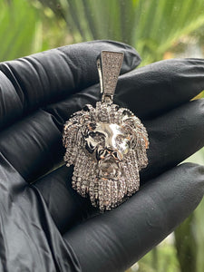 Lion pendant with free rope necklace