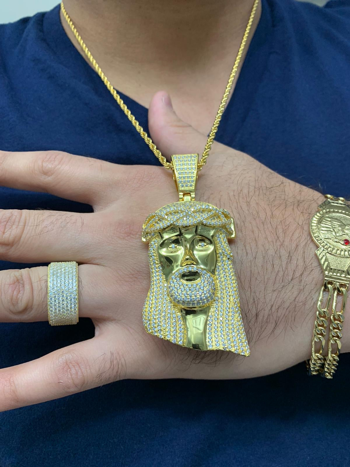 Jesus piece and chain