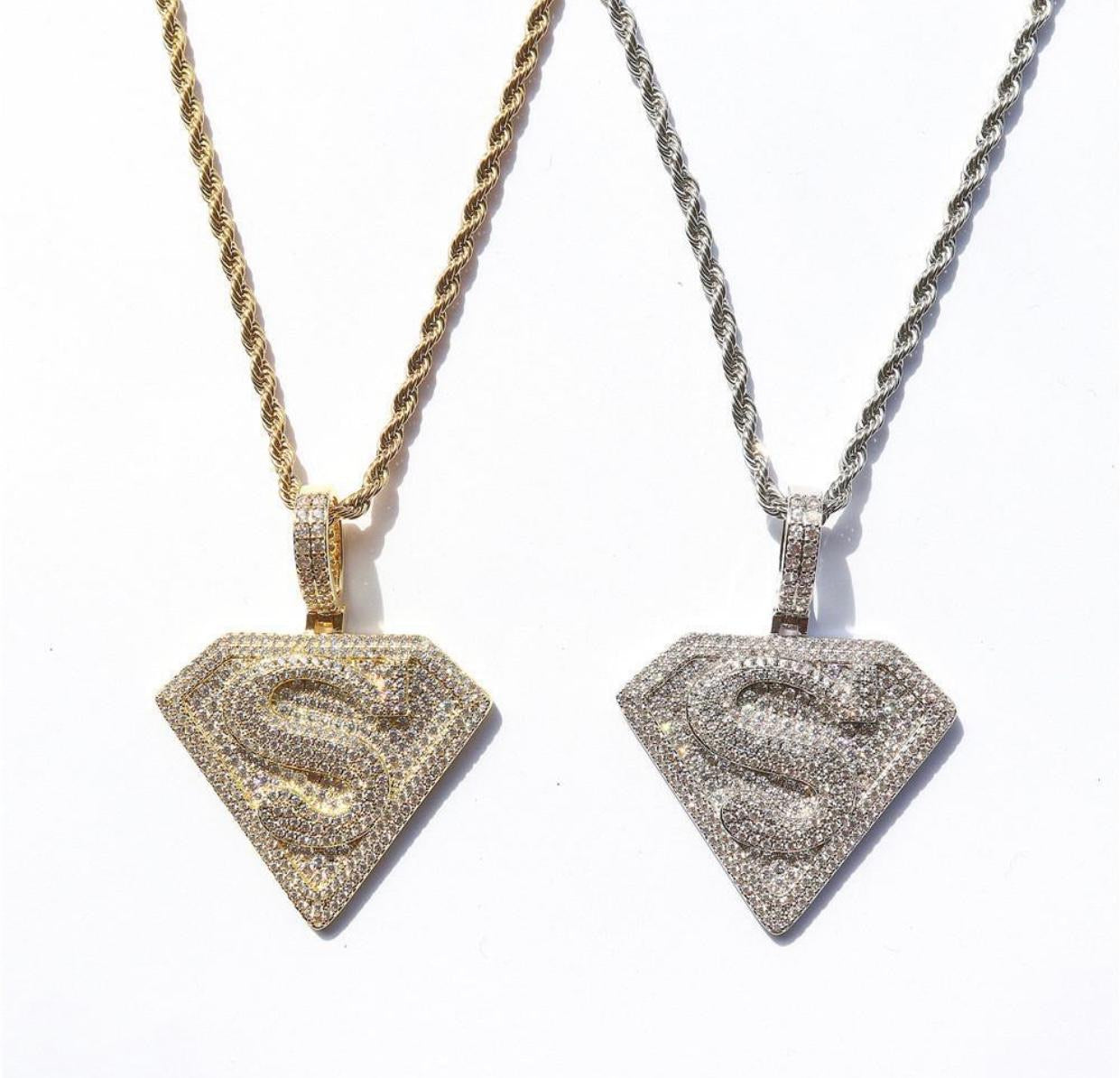 Superman Pendant with Necklace