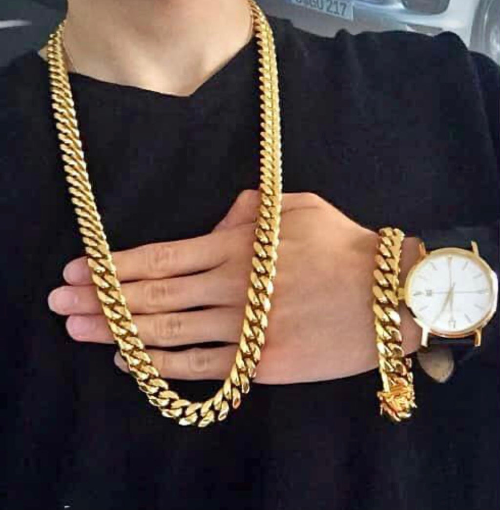 12mm cuban link set