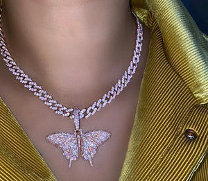 Butterfly pendant and chain