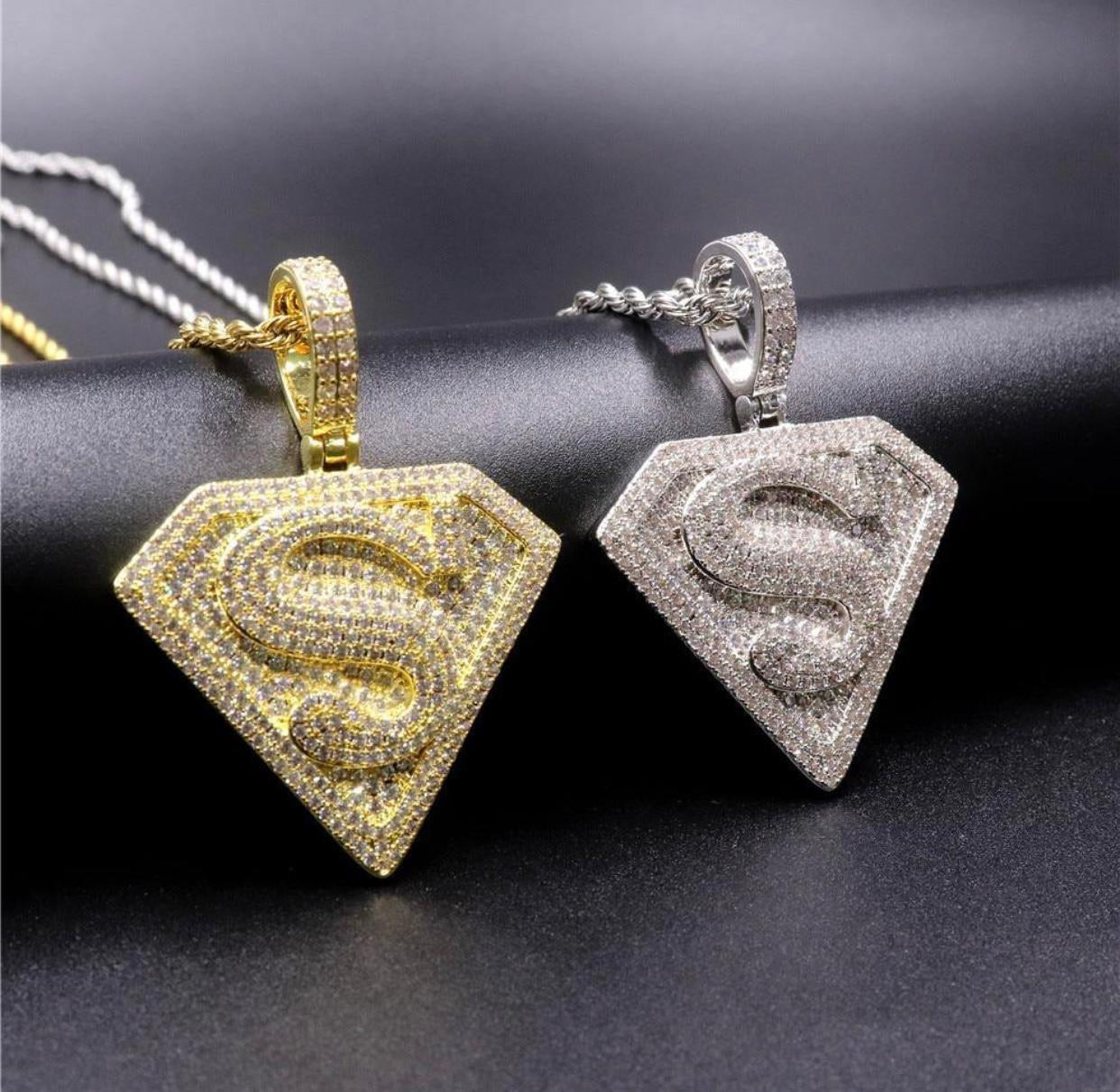Superman pendants with chain combo set
