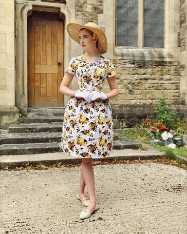 Vintage-Inspired Floral Swing Dress| Belle Poque Affiliate Program