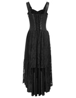 Vintage Punk Victorian Gothic Irregular Sleeveless Lace Dress