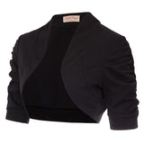 BP Women's Comfy Lightweight Half Sleeve Open Front Shrug Bolero