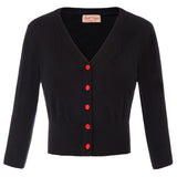 BP Women's 3/4 Sleeve V-Neck Contrast Button Knitwear Knitting Coat Cardigan