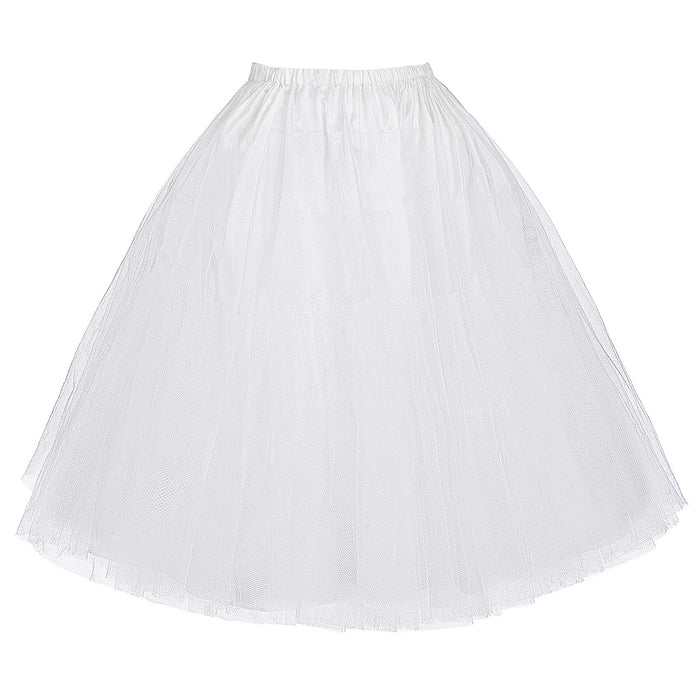 Women's Retro Vintage Dress Crinoline Petticoat Underskirt Two Layers