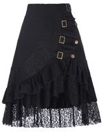 Women's Steampunk Gothic Vintage Victorian Gypsy Hippie Lace Party Skirt