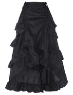 BP Retro Vintage Gothic Women's Costume Cotton High-Low Skirt