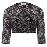 BP Sexy Women's 3/4 Sleeve One-Button Semi See-Through Lace Shrug Bolero