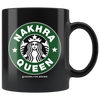 Nakhra Queen Black Coffee Mug