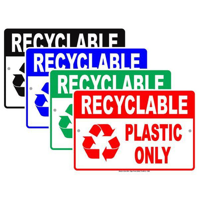Trash, Recycle and Dumpster Signs